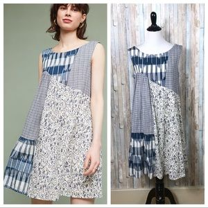 Anthropologie XS Ivy Patchwork Dress Tunic Shift